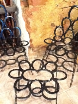Horseshoe Chair and Table